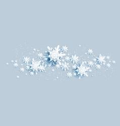 ornamental snowflakes border vector image
