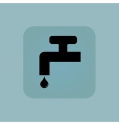 Pale blue water tap icon vector