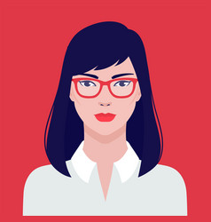 Portrait a beautiful asian student girl vector