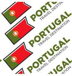 portugal travel destination with national flag vector image