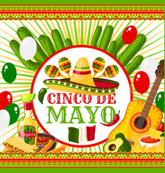 Poster cinco de mayo vector