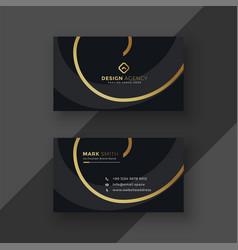 premium dark business card design vector image