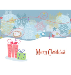 presents with snowflakes vector image