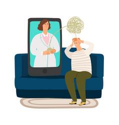 psychologist online consultation vector image