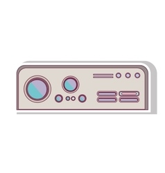Rectangle game console with buttons vector
