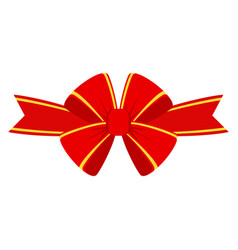 red bow for gift vector image
