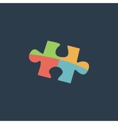 Simple puzzle icon vector image