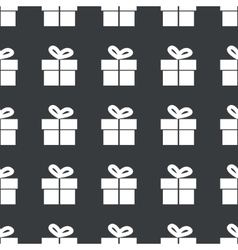 Straight black gift pattern vector