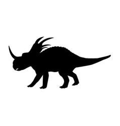 styracosaurus silhouette dinosaur jurassic vector image