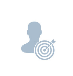 Target audience icon marketing concept vector