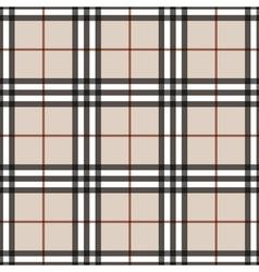 Tartan seamless pattern beige vector
