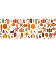 Thanksgiving seamless border seamless vector