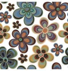 Tiny floral seamless pattern vector