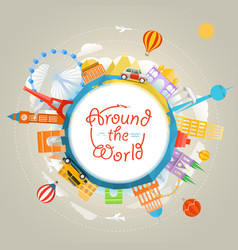 Travel around world concept template for a vector