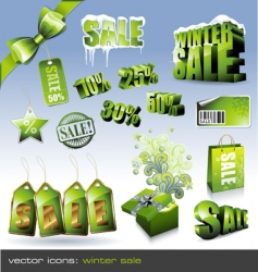 winter sale sign vector image vector image