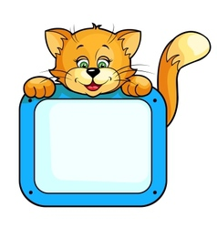 cat with frame vector image vector image
