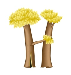 Letter in the form of tree vector image
