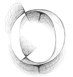 Sketch font Letter o vector image vector image