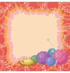 Background accessories for knitting vector image