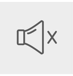 Mute sound thin line icon vector image