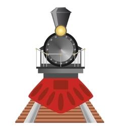 Old steam locomotive vector