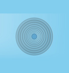 paper art of blue circle with shadow background vector image vector image