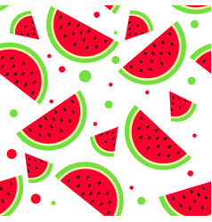 watermelon pattern summer bright background vector image vector image