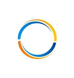 circle rotation color logo vector image