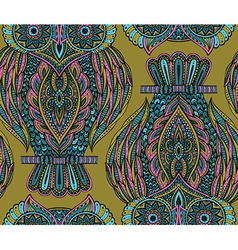 Colorful seamless pattern with hand drawn ornate vector image vector image