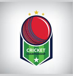 cricket championship logo vector image