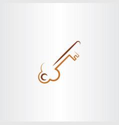 old skeleton key icon vector image