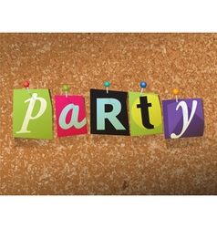 Party Concept vector image vector image
