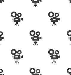 video camera seamless pattern vector image