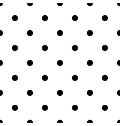 polka dot black vector image vector image
