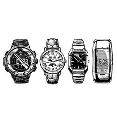 set of mens wristwatches vector image