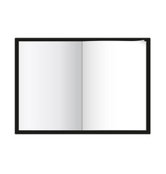 A4 a5 notepad template black cover white page vector
