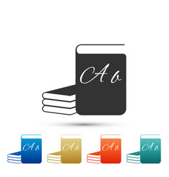 Abc book icon dictionary book sign alphabet book vector