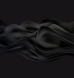 Abstract smooth black color wavy art vector