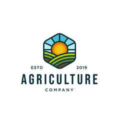 agriculture logo design concept vector image
