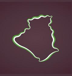 algeria - outline map vector image
