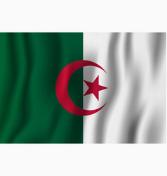 algeria realistic waving flag national country vector image