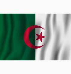 Algeria realistic waving flag national country vector
