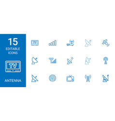 antenna icons vector image