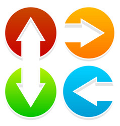 Arrow icons pointing left right up and down vector