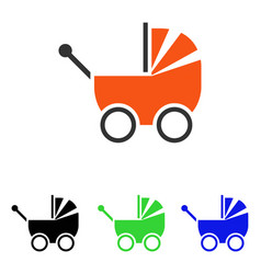 Baby carriage flat icon vector