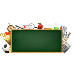 back to school background with a blackboard vector image