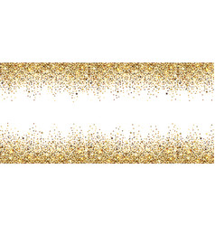 Banner with gold sparkles vector