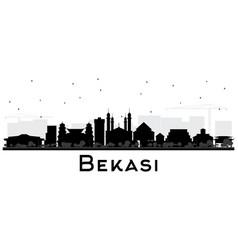 Bekasi indonesia city skyline silhouette vector