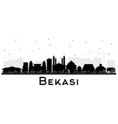 Bekasi indonesia city skyline silhouette with vector