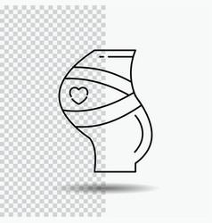 belt safety pregnancy pregnant women line icon on vector image